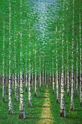 Green Trees VI by Inam -  sized 38x59 inches. Available from Whitewall Galleries